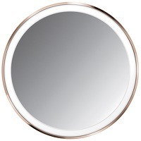 Simplehuman Sensor Mirrors 3 x Magnification 10cm Sensor Mirror Compact: Round Rose Gold Stainless Steel Rechargeable with Pouch