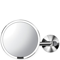 Simplehuman Sensor Mirrors 5 x Magnification Wall Mounted 20cm Sensor Mirror: Round Polished Stainless Steel Rechargeable