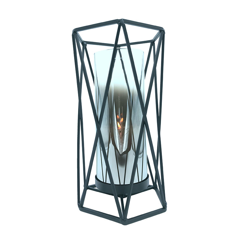 Cello Diamond Metal Candle Holder Large