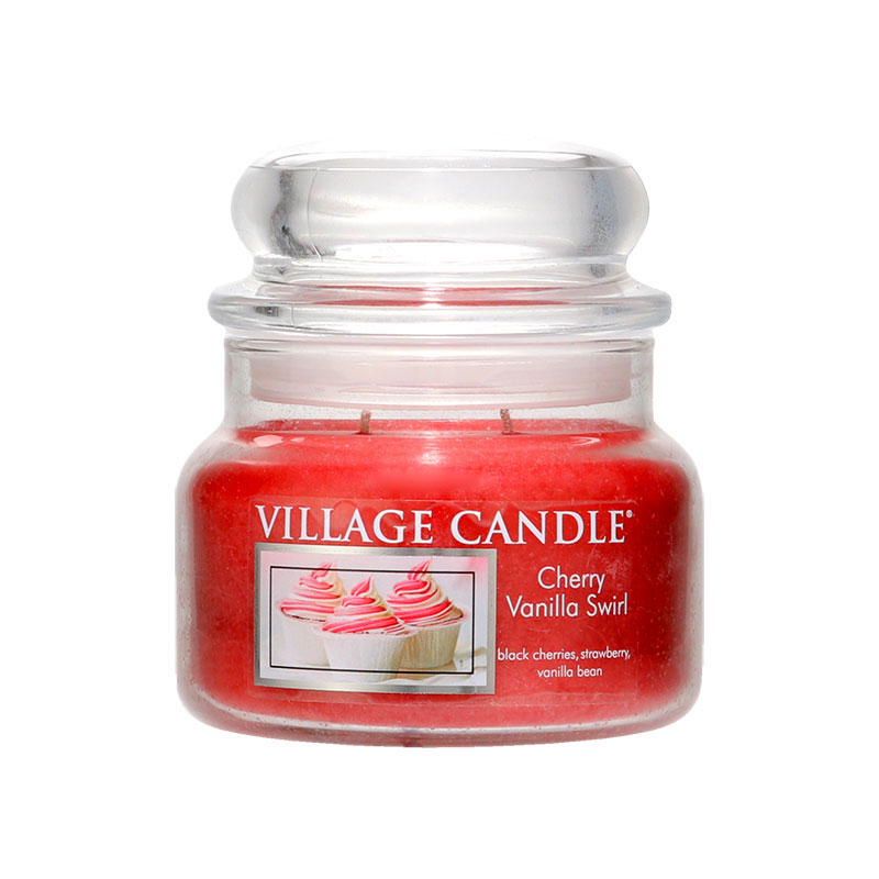 Village Candle Cherry Vanilla Swirl Jar 312g