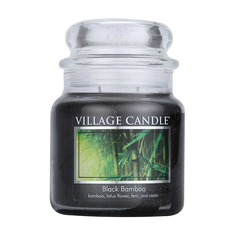 Village Candle Black Bamboo Jar 454g