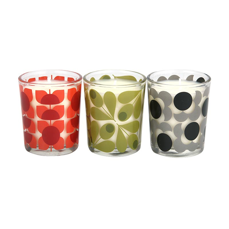 Orla Kiely Square Flower Mini Candle Set