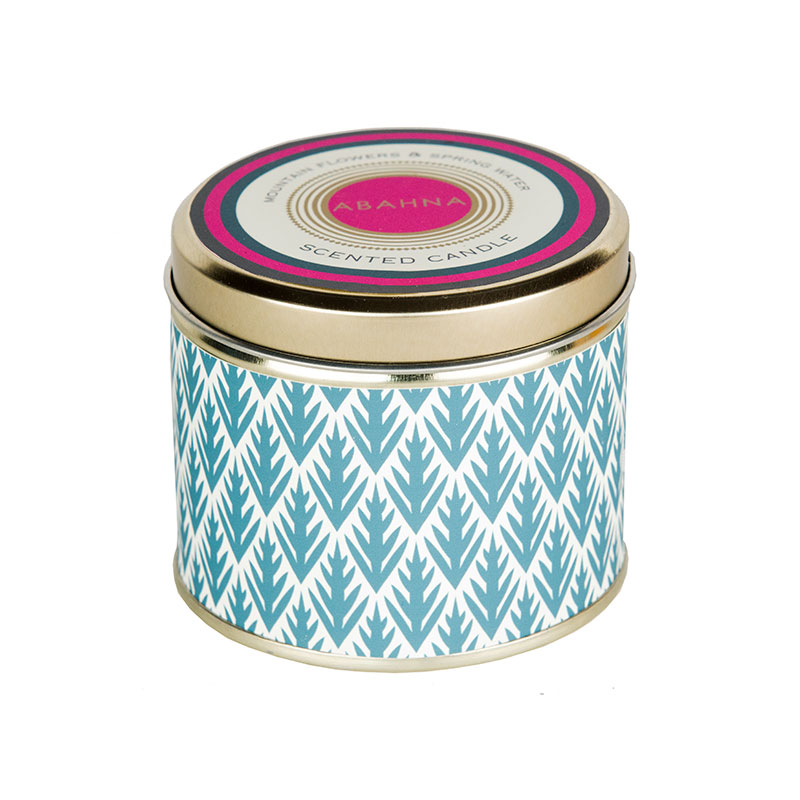 Abahna Mountain Flowers & Spring Water Tin Candle 160g
