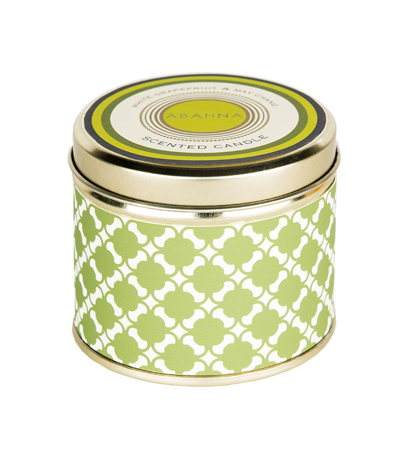 Abahna White Grapefruit & May Chang Tin Candle 160g