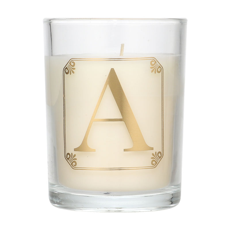 Candlelight Initial A Mimosa Scent Candle