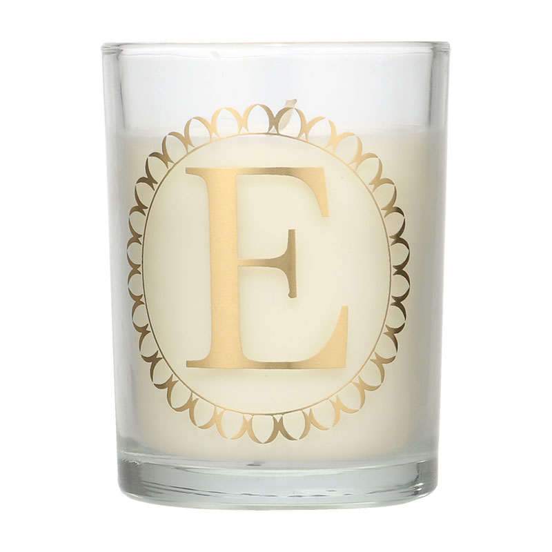 Candlelight Initial E Clementine & Green Tea Scent Candle