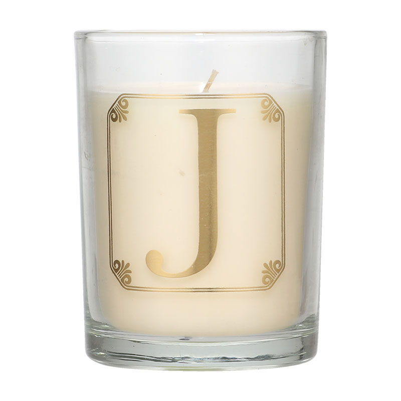 Candlelight Initial J Mimosa Scent Candle