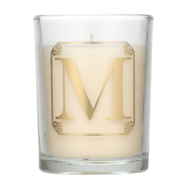 Candlelight Initial M Mimosa Scent Candle