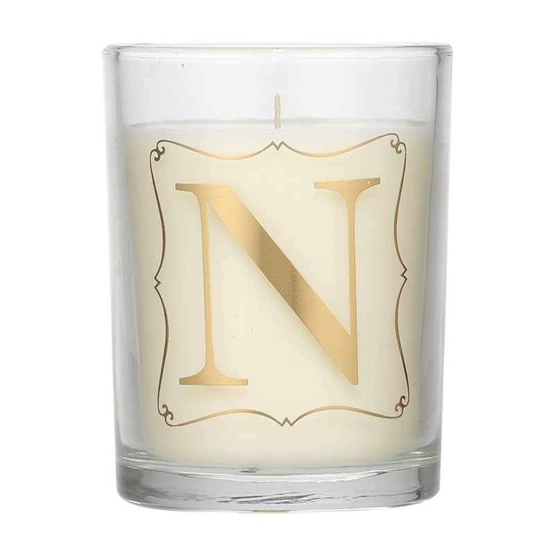 Candlelight Initial N Prosecco Scent Candle
