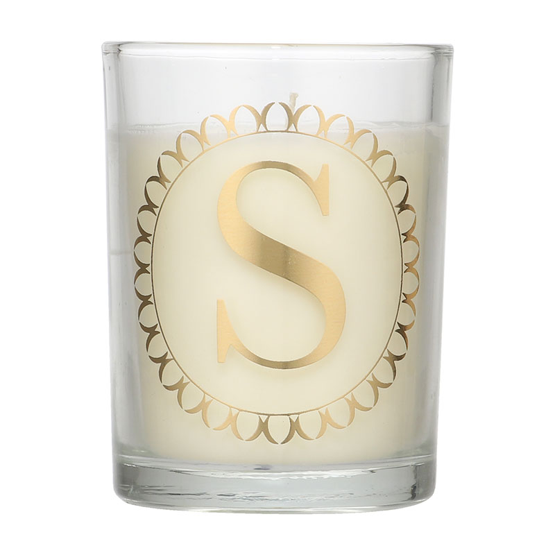 Candlelight Initial S Clementine & Green Tea Scent Candle