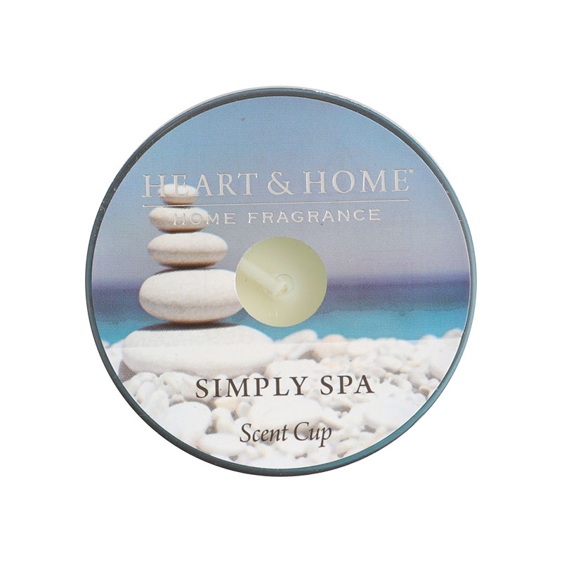 Heart & Home Scent Cups Simply Spa 38g