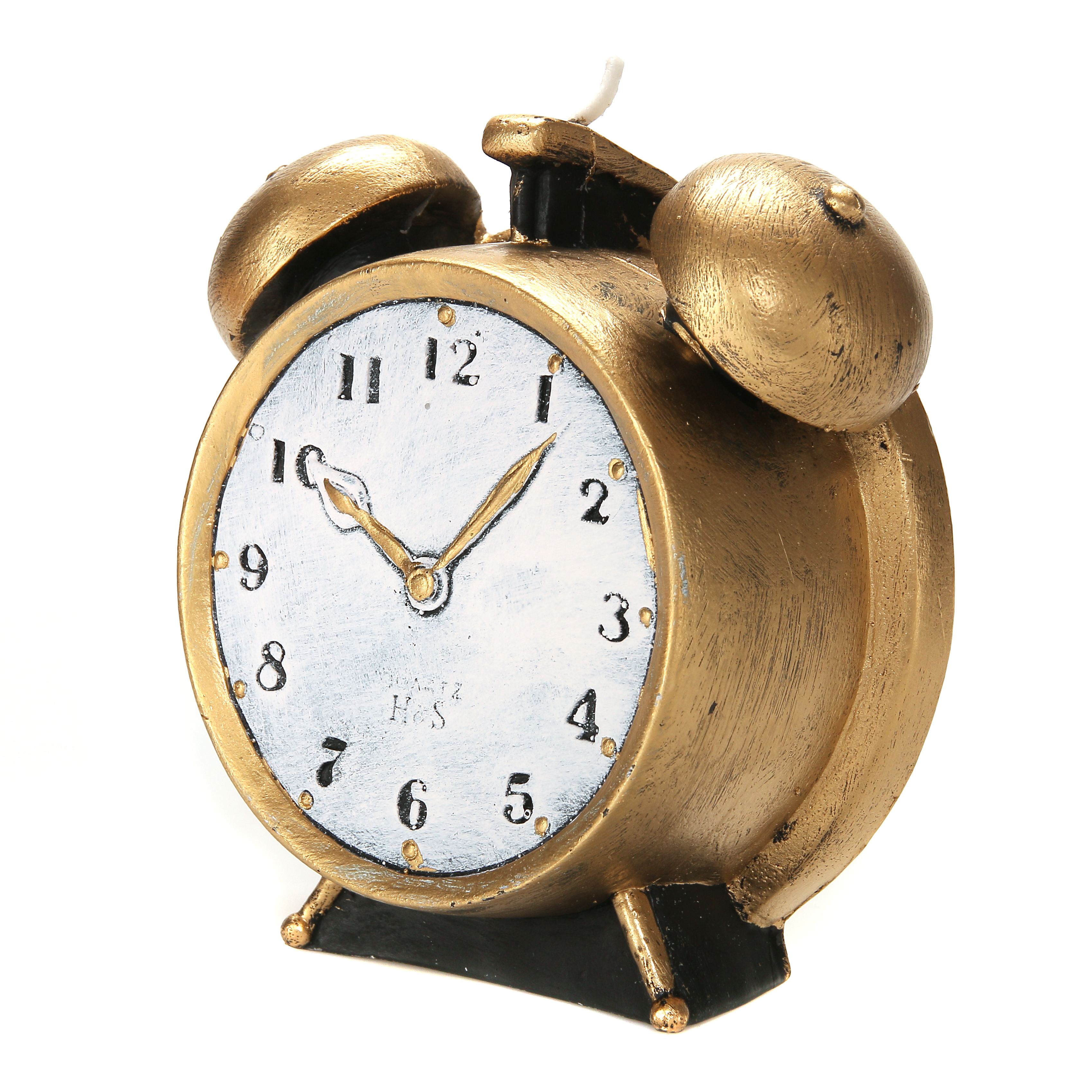 Levin Brothers Large Clock Candle Gold