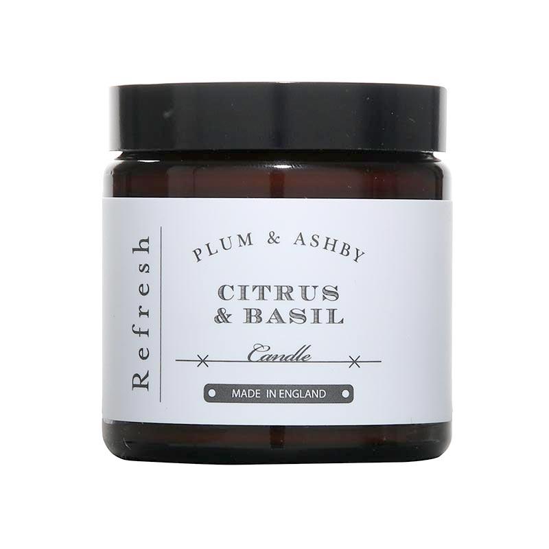 Plum and Ashby Citrus And Basil Travel Candle