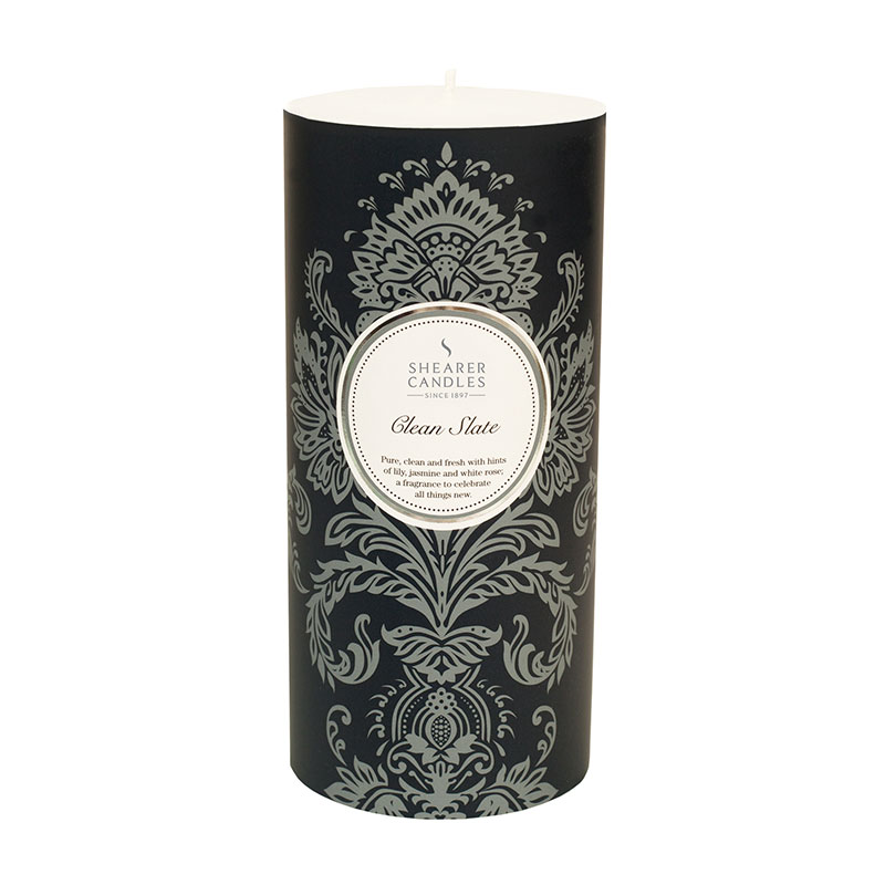Shearer Candles Clean Slate Patterned Pillar Candle