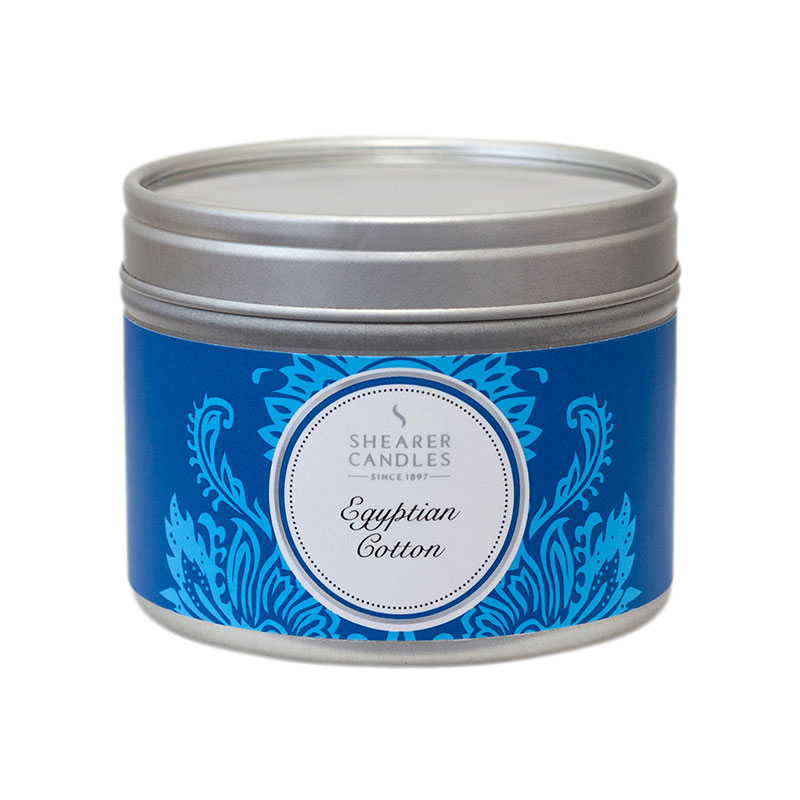 Fragrance Shearer Candles Egyptian Cotton Small Candle Tin