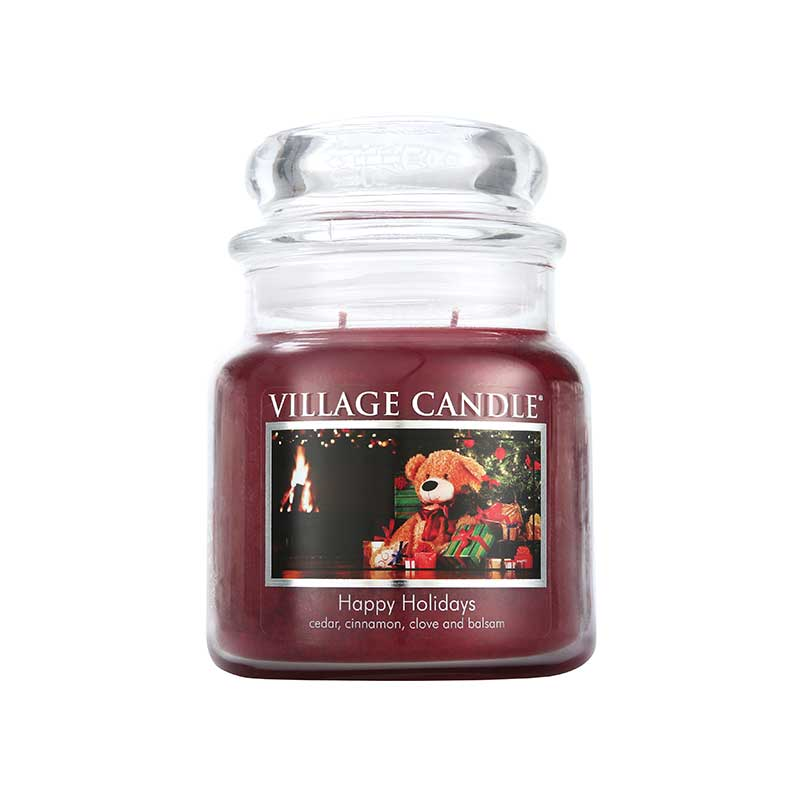 Village Candle Happy Holidays Jar Candle 450g