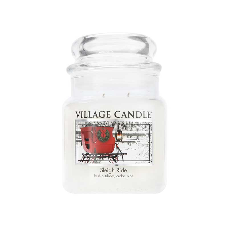 Fragrance Village Candle Sleigh Ride Jar Candle 450g