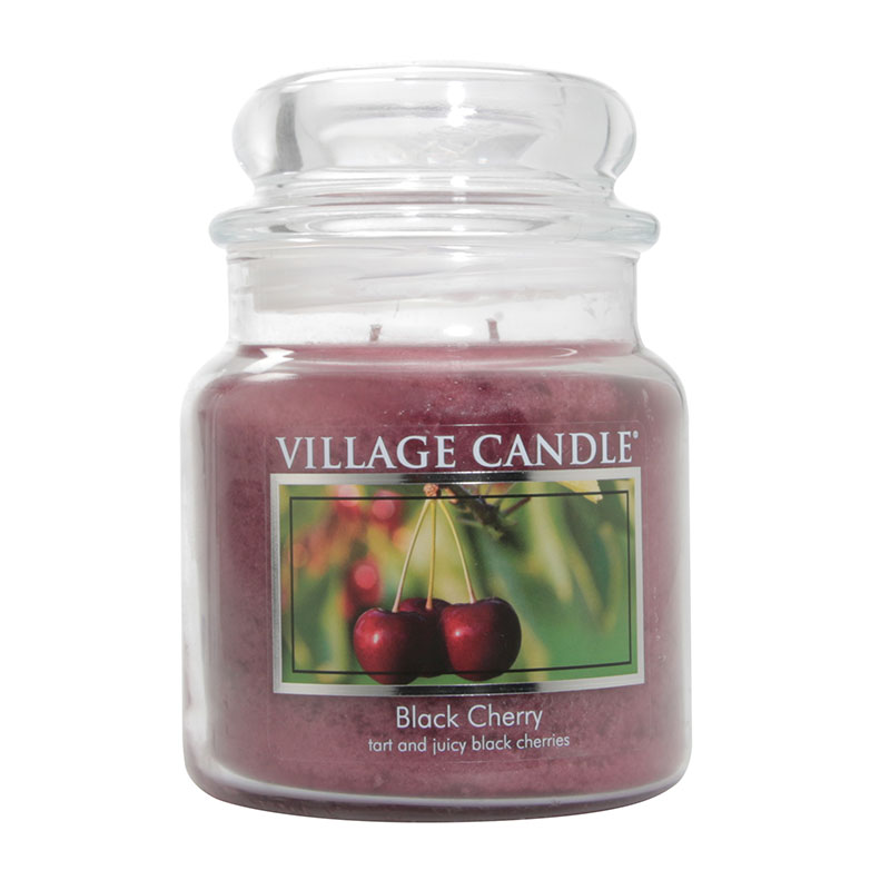 WoodWick Village Candle Black Cherry Medium Jar Candle