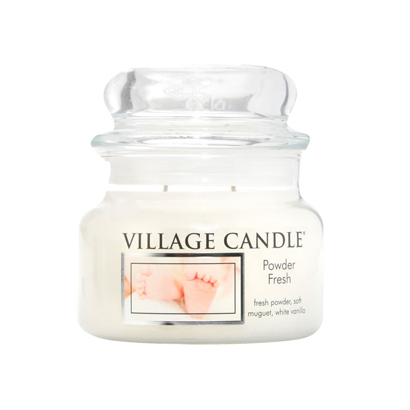 WoodWick Village Candle Powder Fresh Linen Small Jar Candle