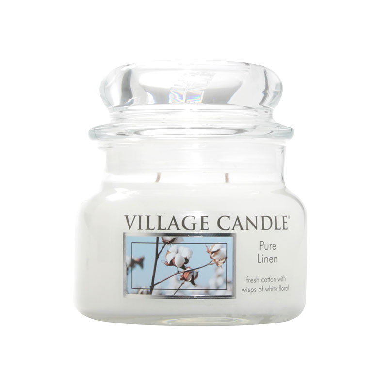 Village Candle Pure Linen Small Jar Candle