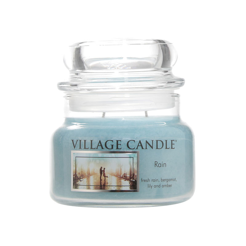 WoodWick Village Candle Rain Linen Small Jar Candle