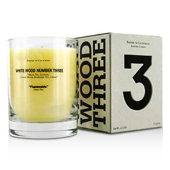 Baxter Of California Scented Candles White Wood Three 350g/12 5oz