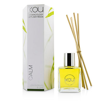 iKOU Aromacology Diffuser Reeds Calm (Lemongrass & Lime 9 months supply)